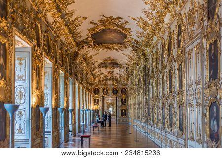 Interior at the Munich Residence, Munich, Upper Bavaria, Bavaria, Germany, June 7, 2017