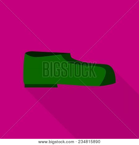 Man Boot Icon. Flat Illustration Of Man Boot Vector Icon For Web