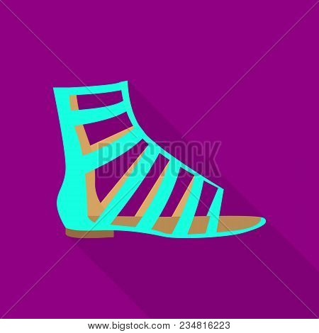Sandal Icon. Flat Illustration Of Sandal Vector Icon For Web