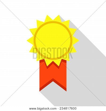 Award Medal Icon. Flat Illustration Of Award Medal Vector Icon For Web