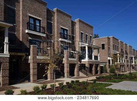 New Brick Townhouses Near Downtown Raleigh, Nc