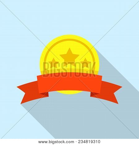 Champion Sticker Icon. Flat Illustration Of Champion Sticker Vector Icon For Web