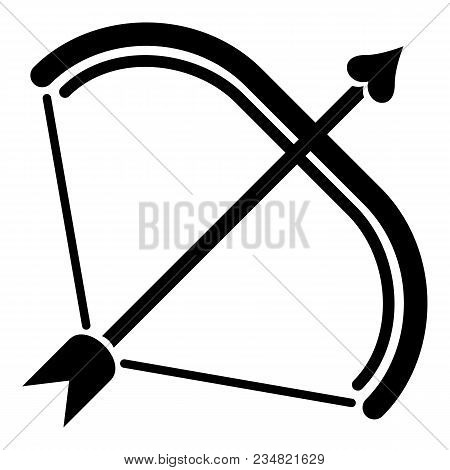 Weapon Bow Icon. Simple Illustration Of Weapon Bow Vector Icon For Web