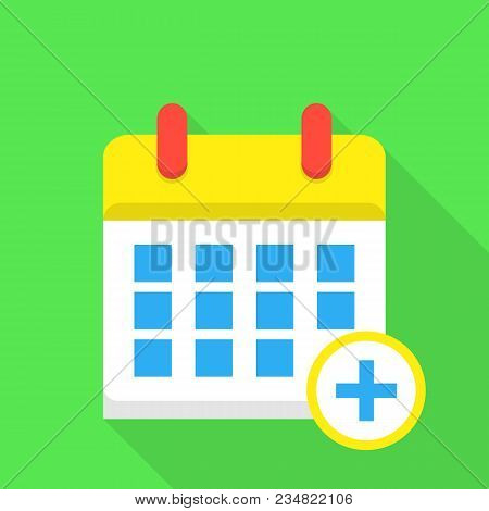 Daily Calendar Icon. Flat Illustration Of Daily Calendar Vector Icon For Web