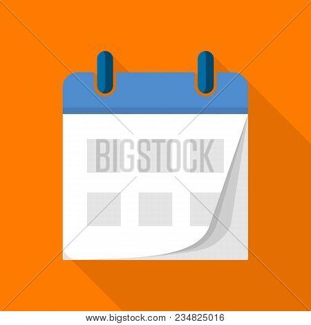 Tear Off Calendar Icon. Flat Illustration Of Tear Off Calendar Vector Icon For Web