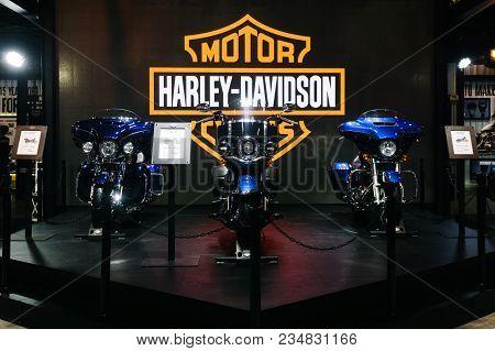 Thailand,bangkok - 31 March 2018 : The Harley Davidson Motorcycles Booth Display At The 39Th Bangkok