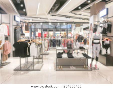 Clothes, Defocused Image Of Clothes Shop Costume Dress Fashion Store Style Concept