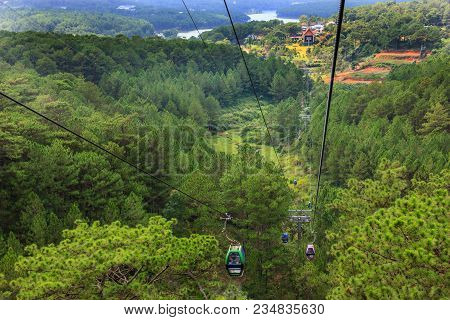 Landscape View From Dalat Cable Car, En Route From Robin Hill To Truc Lam Monastery (chua Truc Lam),