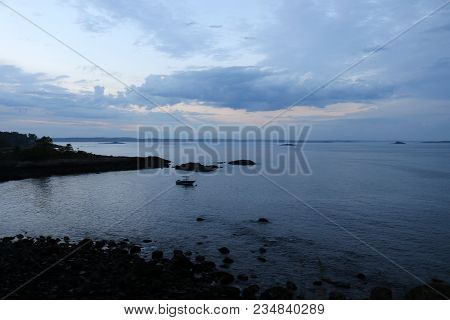 The View From Fort Sewall In Marblehead Massachusetts After A Storm.