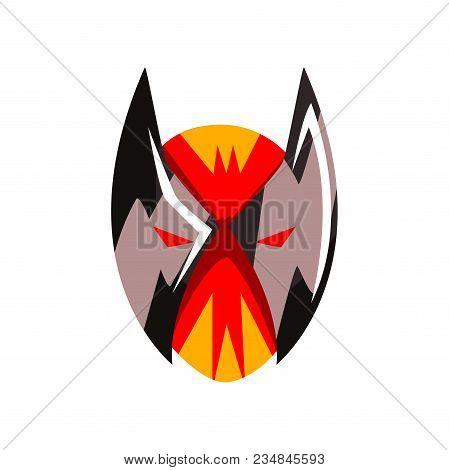 Superhero Or Villain Mask Vector Illustration Isolated On A White Background.