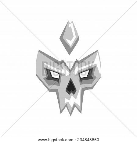 Hero Or Villain Mask Vector Illustration Isolated On A White Background.