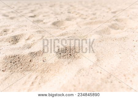 Sand Texture. Brown Sand. Background From Fine Sand. Sand Background