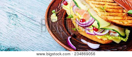 Sandwiches On The Plate