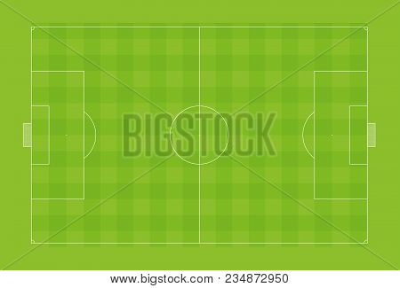 Vector Illustration Of Football Pitch Or Soccer Field With Official Proportions