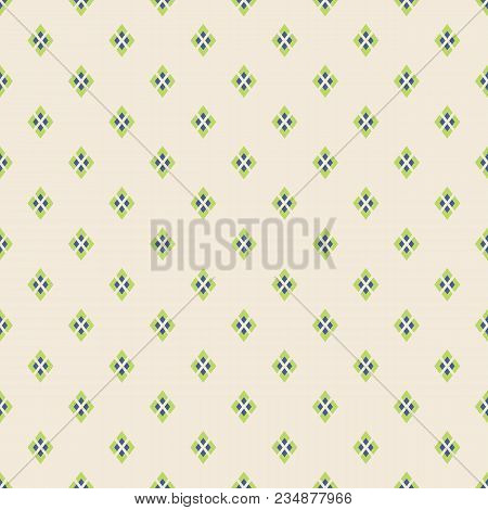 Abstract Seamless Pattern. Regularly Repeating Geometrical Tiles Of Rhombuses. Modern Stylish Textur