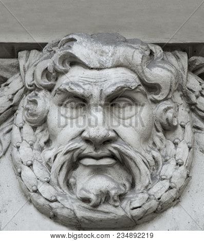 God Zeus Is The Son Of The Titan Of Cronus. Head Of The Gods. The Ruler Of Mount Olympus. God Of Lig