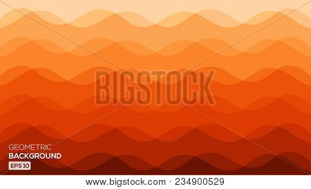 Abstract Background With Gradient And Wave Texture. Vector