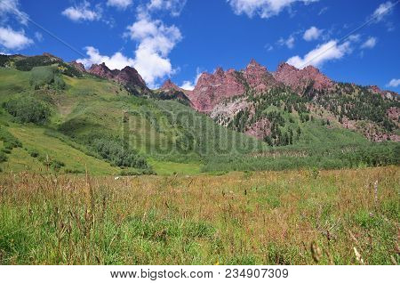 View From The Rocky Mountains Near Aspen, Colorado
