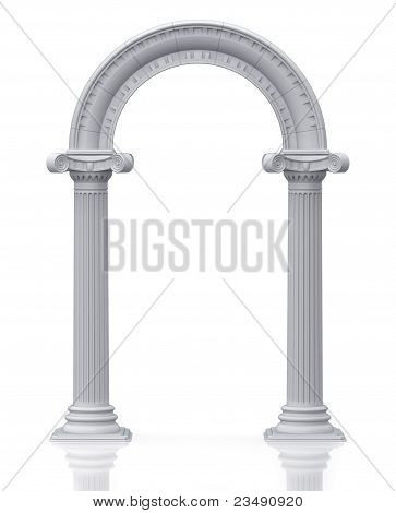 Classic arch (3d render)