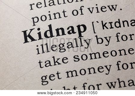 Definition Of Kidnap