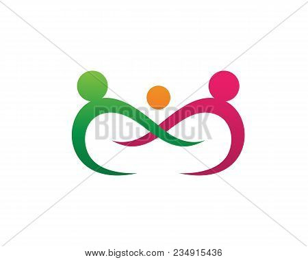 Adoption And Community Care Logo Template Vector Icon..