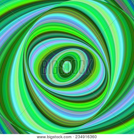 Multicolored Ellipse Fractal Art Background - Vector Graphics