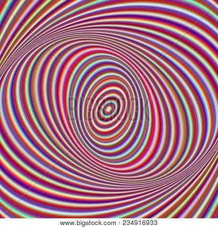 Colorful Ellipse Digital Art Background - Vector Fractal Design