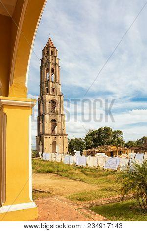 Surveillance Tower Of Slaves Of Manaca Iznaca Sugar Factory
