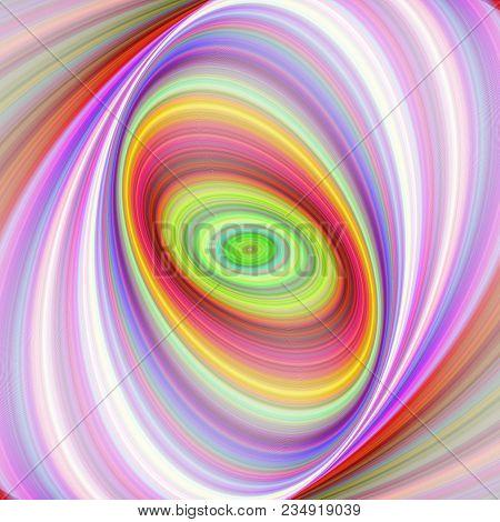 Multicolored Elliptical Digital Fractal Art Background Design