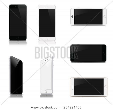 Devices Set  - Smartphone Isolated On White Background