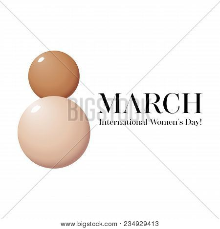Makeup Banner Whith Drops Of Foundation. Beauty Women's Day. Vector For The Promotion Of Foundation