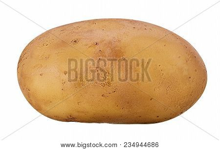 Young Potatoes Isolated On White Background. Clipping Path