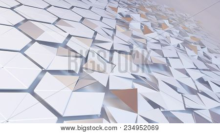 Scattered Hexagon Geometric Perspective Grid