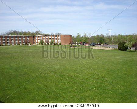 The Quad Or The Open Grass Field Between Mcreynolds Hall And Whitney Hall, Defiance College, Defianc