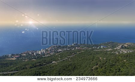 View Of Foros And The Black Sea In The Crimea From The Area Near The Foros Church