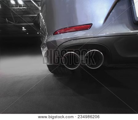 Exhaust Pipe And Back Part Of New Car
