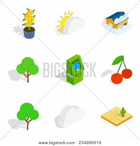 Critical Vital Icons Set. Isometric Set Of 9 Critical Vital Vector Icons For Web Isolated On White B