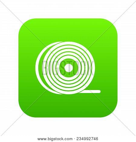 Abs Or Pla Filament Coil Icon Digital Green For Any Design Isolated On White Vector Illustration