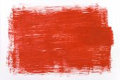red draw texture painting on white canvas poster