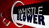 Whistle Blower Megaphone Bullhorn Expose Wrong Injustice Lies 3d Illustration poster