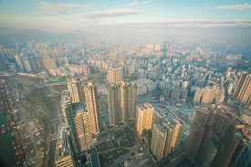 China City With Modern Skyscrapers And Enterprises.