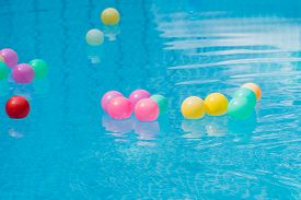 The Colorful Plastic Balls In Swimming Pool