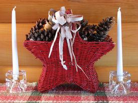 Christmas Star Basket