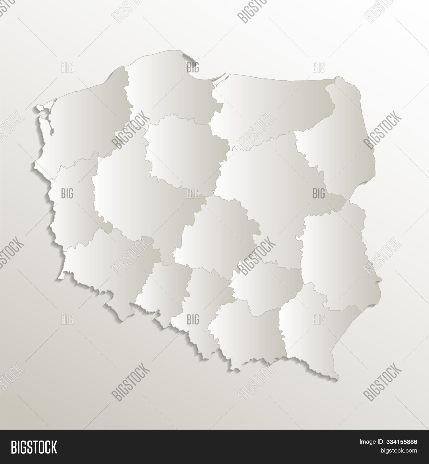 Picture of: Poland Map Separates Image Photo Free Trial Bigstock