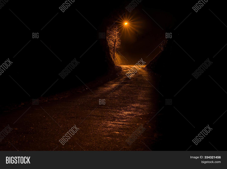 Dark Road Night Image Photo Free Trial Bigstock
