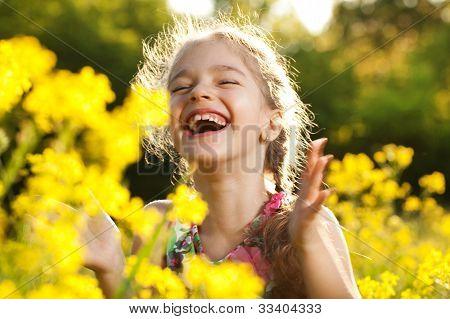 Charming Cheerful Girl