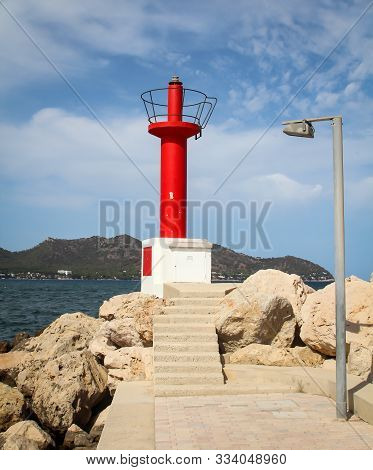 Navigation Aids At A Harbor Entrance Help Ships