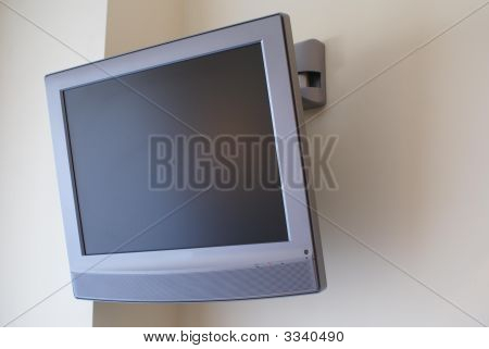 Tv. Television Screen On The Wall