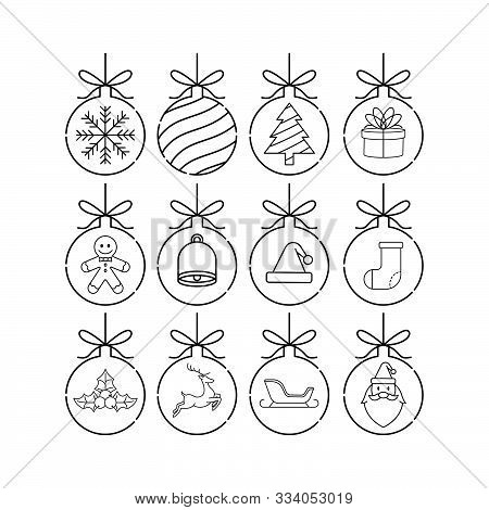 Christmas set. Set of Christmas Balls. Christmas Balls Vector. Christmas Balls Icon. Christmas Balls Background. Christmas Balls Vector illustrations. Christmas Balls logo. Gift Box illustrations. Christmas Balls for party, present, Christmas. Christmas B