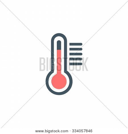 Temperature Thermometr Icon. Stock Vector Illustration Isolated On White Background.